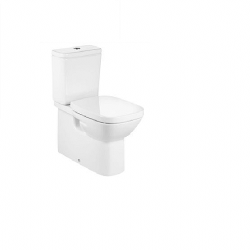 Roca Debba Back To Wall Close Coupled Toilet With Push Button Cistern - Soft Close Seat - White